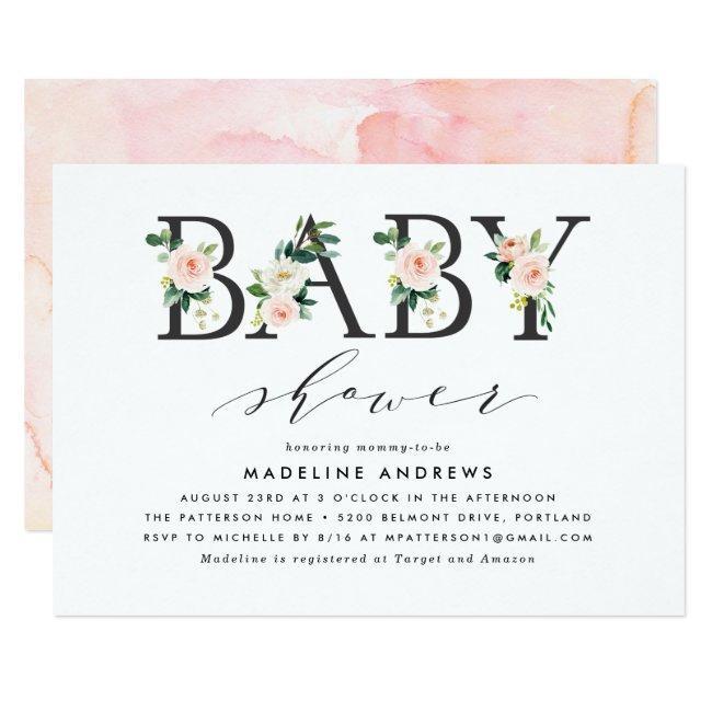 Blush Florals | Baby Shower Invitation