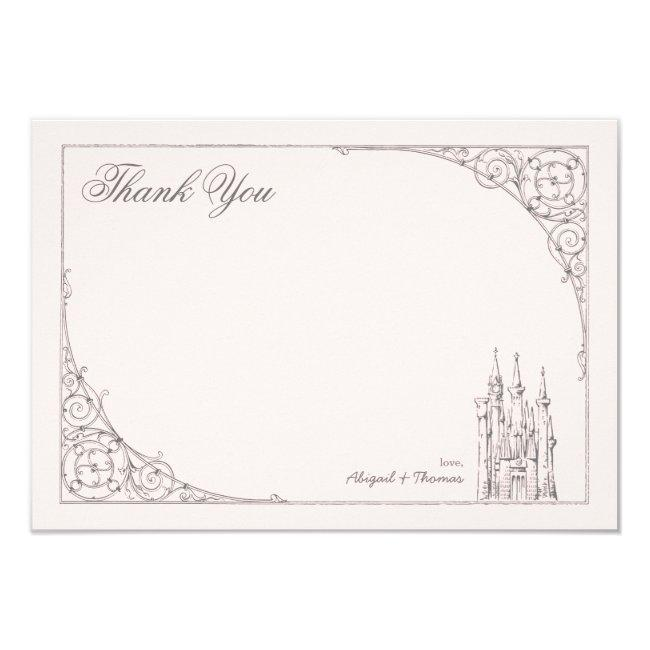 Disney Princess Castle | Baby Shower Thank You