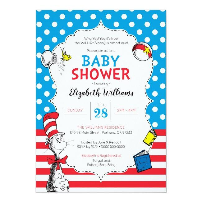 Dr. Seuss - The Cat in the Hat Baby Shower Invitation