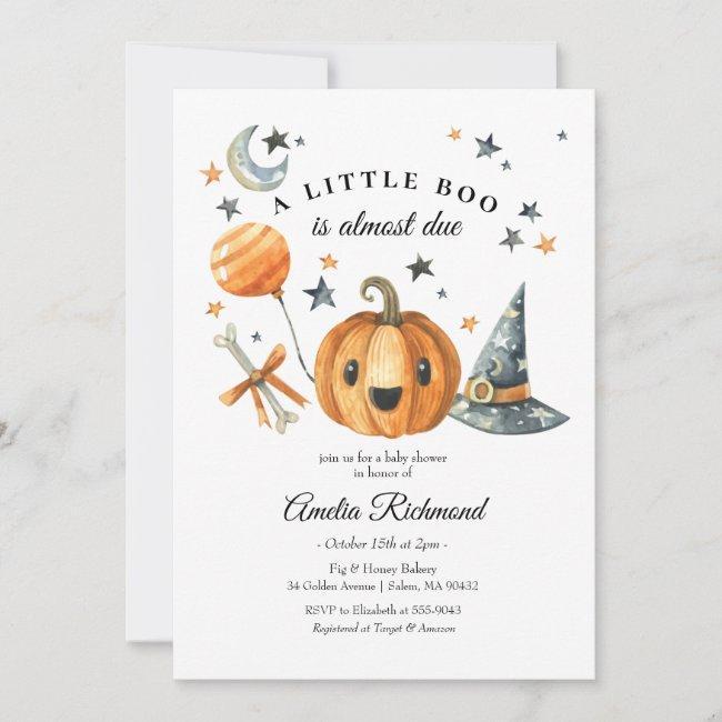 Halloween Pumpkin Little Boo Baby Shower