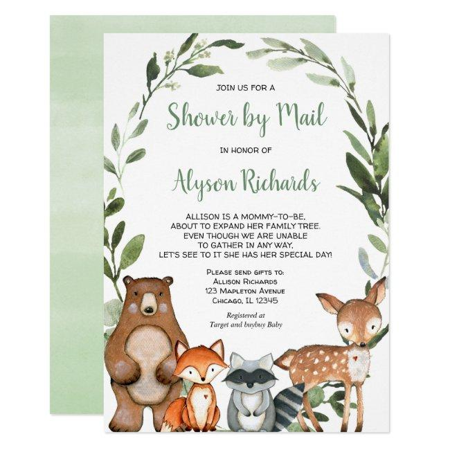Shower by mail Woodland forest friends baby shower Invitation