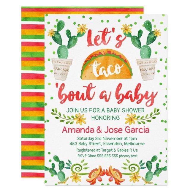 Taco Bout A Baby Invitation