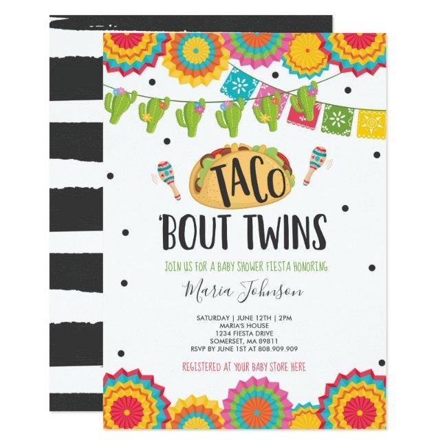 Taco 'Bout Twins Fiesta Twin Baby Shower Invitation