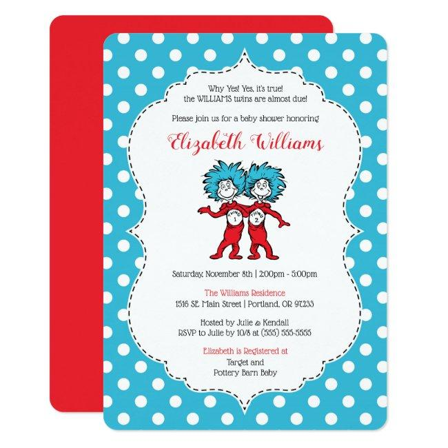 Thing 1 Thing 2 | Twins Baby Shower Invitation