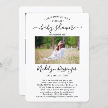 5 Photo Virtual Long Distance Baby Shower By Mail Invitation