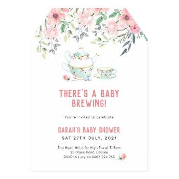 A Baby Brewing Invitation, High Tea Baby Shower Invitation