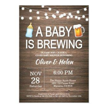 A Baby Is Brewing Baby Shower Invitation