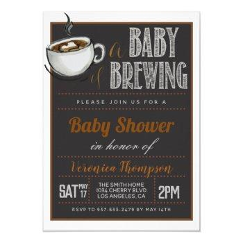 A Baby Is Brewing Coffee Baby Shower Invitation