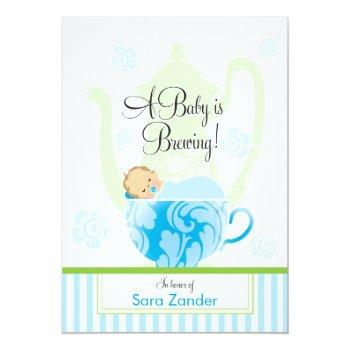 A Baby Shower Tea Party  |  Boy Invitation