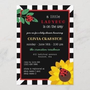 A Little Ladybug Baby Shower Invitation