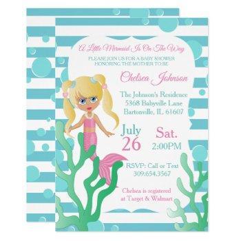 A Little Mermaid Baby Shower  🤰 Invitation