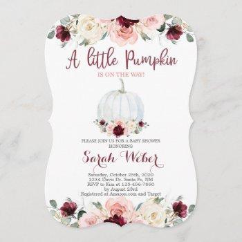 A Little Pumpkin Fall Baby Shower Girl