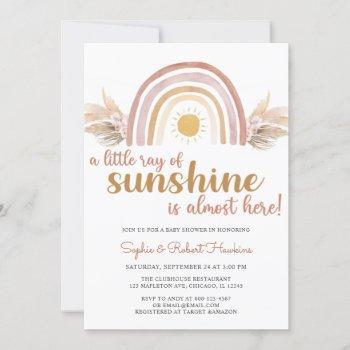 A Little Ray Of Sunshine Boho Rainbow Baby Shower