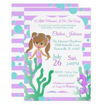 A Pretty Little Mermaid Baby Shower 🤰 Invitation