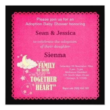 Adoption Baby Shower Girl Invitation