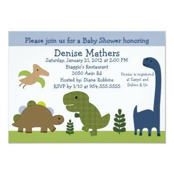 Adorable Dino/dinosaurs Baby Shower Invitation