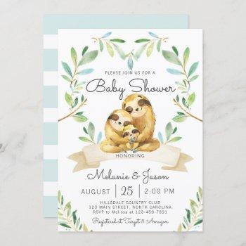 Adorable Sloth Baby Shower