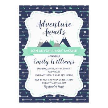 Adventure Awaits Baby Shower Invitation