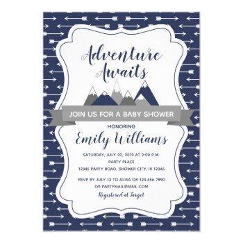 Adventure Awaits Baby Shower Invitation For Boys