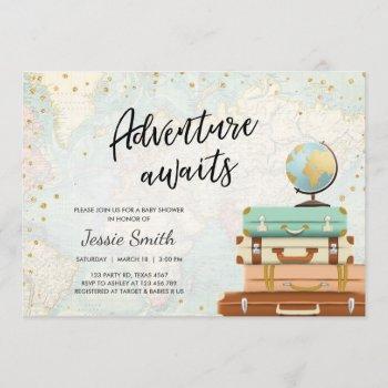 Adventure Awaits Baby Shower  Travel Map