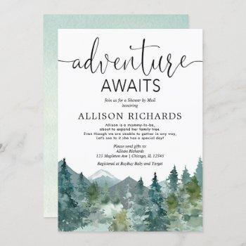 Adventure Awaits Shower By Mail Rustic Baby Shower Invitation