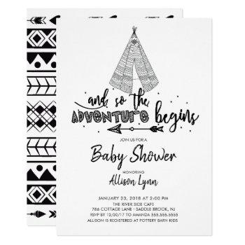 Adventure Begins Baby Shower Invitation