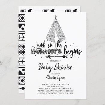 Adventure Begins Baby Shower Invitation