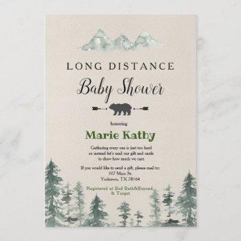 Adventure Long Distance Baby Shower Invitation