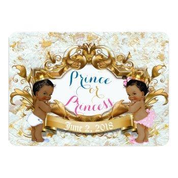 African Prince & Princess Gender Reveal Invitation