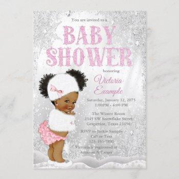 Afro Puff Girl Winter Wonderland Baby Shower