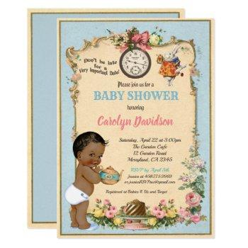 Alice In Wonderland Baby Shower Invitation African
