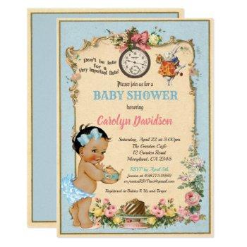 Alice In Wonderland Baby Shower Invitation -latina