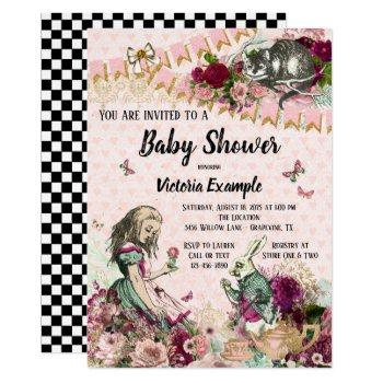 Alice In Wonderland Baby Shower Invitations