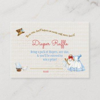 Alice In Wonderland Diaper Raffle Thank You Gift Enclosure Card