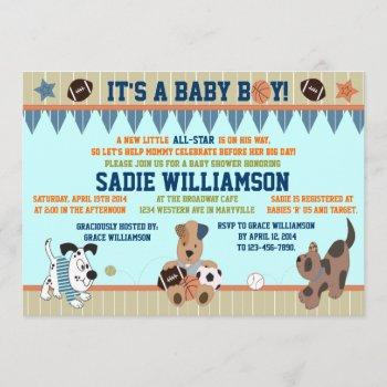 All-star Puppies Baby Boy Shower