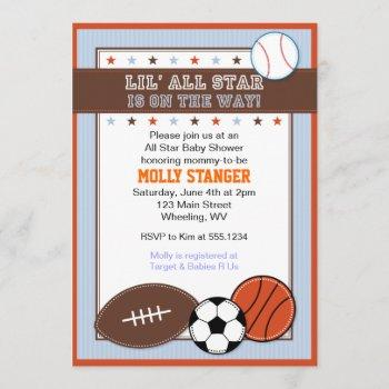All Star Sport Baby Shower