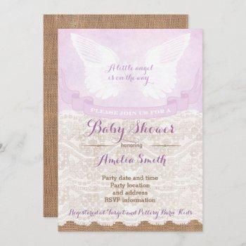 Angel Baby Shower , Lilac Baby Shower