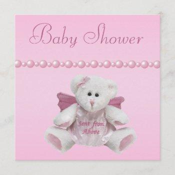 Angel Teddy, Baby Shoes & Pearls Baby Shower