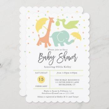 Animal Baby Shower, Gender Neutral