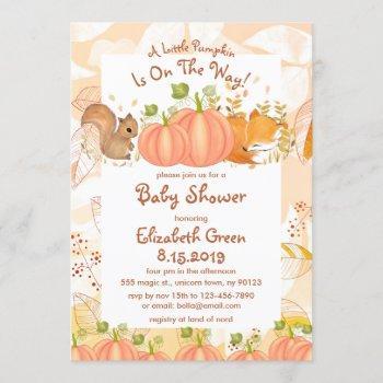 Autumn Pumpkin Woodland Baby Shower