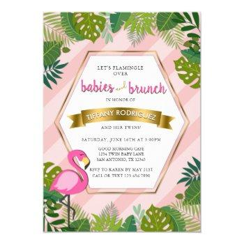 Babies And Brunch Baby Brunch Flamingo Baby Shower Invitation