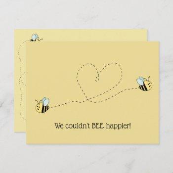 Baby Bee Boy Twins Invitation