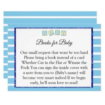 Baby Blue Baby Shower Books For Baby Card