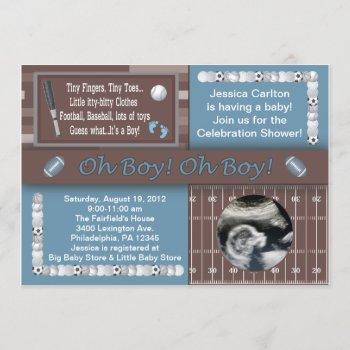 Baby Boy Sports Shower Invitation