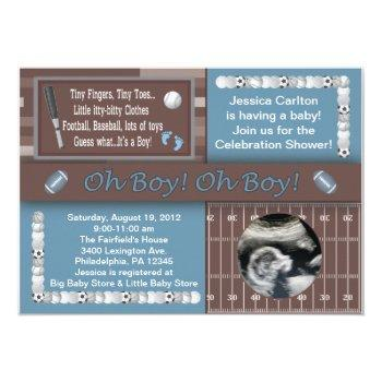 Baby Boy Sports Shower Invitation