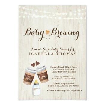 Baby Brewing Coffee Baby Shower Invitation