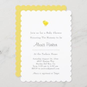 Baby Chick Baby Shower Invitation