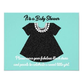 Baby & Co Little Black Dress Baby Shower Party Invitation