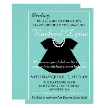 Baby Co Little Black Dress Girl Sprinkle Shower Invitation
