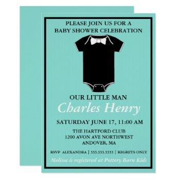 Baby & Co Little Man Tuxedo Sprinkle Shower Party Invitation